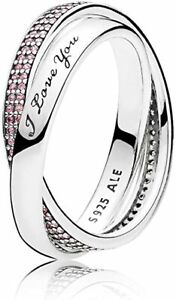 PANDORA Sweet Promise Ring, Pink CZ And 925 Sterling Silver 196546PCZ  W/BAG 🎁
