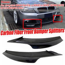 REAL Carbon Fiber Front Bumper Splitter Lip For BMW E90 E91 335i 328i LCI M Tech