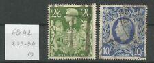 Grande-Bretagne 1942 233-34 ° George VI Armoiries