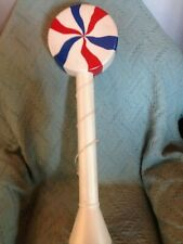 """VINTAGE UNION 4TH OF JULY 33"""" LOLLIPOP (CUSTOM RED/WHITE/BLUE) BLOW MOLD #2"""