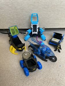 Imaginext DC Super Friends Batman Bike, helicopter, Car & Mr Freeze Set