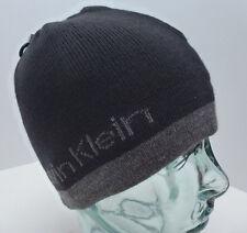 CALVIN KLEIN Men's Jacquard Rev Logo Beanie *Black/Grey Winter Hat *One Size