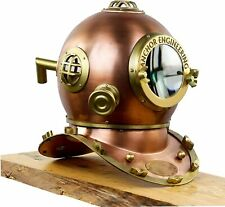 NAUTICAL FULL SIZE Anchor Engineering 1921 ANTIQUE DIVING DIVERS HELMET MARITIME