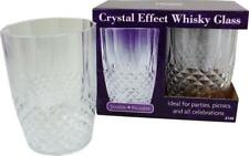 Crystal Effect Whisky Glass (Plastic Crystal Effect)