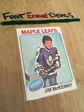 TOPPS HOCKEY 1975-76 JIM MCKENNY CARD 311 TORONTO MAPLE LEAFS EXCELLENT