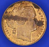 French France EUGÉNIE IMPÉRATRICE Lille 1867 brass medal  [18200]