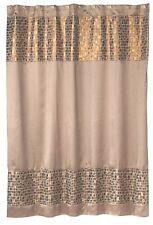 Popular Bath Mosaic Stone Bronze Fabric Shower Curtain