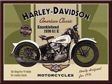 Harley Davidson Knucklehead Magnet  6x8 cm 14224 Kühlschrankmagnet Schild Sign