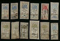 France range of 24 early revenue issues as illustrated different rates FU Stamps