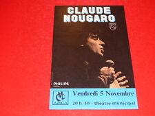 [Collection J. LE BOURHIS / AFFICHES] CLAUDE NOUGARO ANGERS 1971 AMCA Très Rare!