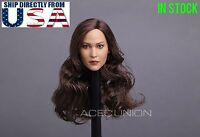 "1/6 American European Female Head Sculpt For 12"" PHICEN Hot Toys Figure USA"