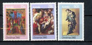 Australia MNH Christmas 1980 Religious Art Paintings G506
