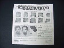 Vintage FBI Wanted Poster 1973 Santos Marin Vasquez