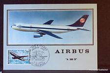AIRBUS A 300 B  1973 CARTE MAXIMUM FRANCE Premier Jour 1° FDC Yt 1751c