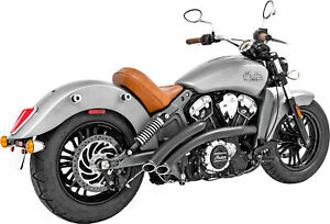Radical Radius High Black Full Exhaust FrP. IN00076 For 15-20 Indian Scout