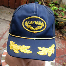 Vintage Patch Captain Hat Mesh Snapback Hat Cap Ivy Leaves Sailing Boating Nauti