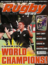 NZ RUGBY NEWS 32-08, 18 Apr 2001  - All Black Junior World Cup Winners Special