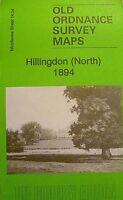Old Ordnance Survey Maps Hillingdon North Middlesex 1894  Godfrey Edition New