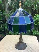 Bradley & Hubbard  Early Electric Stained Glass Lamp Survivor Project c. 1900