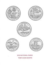 2018 NATIONAL PARK QUARTERS COMPLETE P&D SET (10 COINS) ****PRE-SALE****