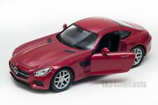 Mercedes AMG GT red, Welly scale 1:34-39, model toy car gift