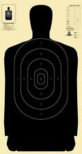 "Official NRA B-27 silhouette targets [24"" x 45""] and B-27C centers (10 each)"