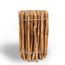 Staketenzaun mit Imprägnierung Kastanie 10m Höhe-50cm Lattenabstand-7-8cm