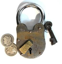 United States Mint Padlock U S American Iron Brass With Key Hole 2 lb 6 Inches T