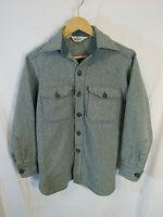 VTG Woolrich Men's Wool Blend Twill Long Sleeve Button Up Shirt Size M near mint