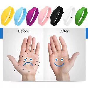 Portable Silicone Soap Bracelet Wristband Hand Dispenser Squeeze Bottles Wash US