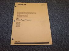 CAT Caterpillar D6 Track Type Tractor Owner's Owner Operator Maintenance Manual