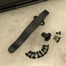 Black Titanium Deep Pocket Clip & Screw Set For USA Emerson Knife CQC-7 CQC-15