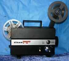 SUPER & STANDARD 8mm SILENT MOVIE PROJECTOR TITAN TRIMATIC IQ NEW LAMP SERVICED