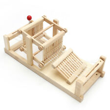 Classic Wooden Table Weaving Loom Machine Model Hand Craft Kids Toy Educational
