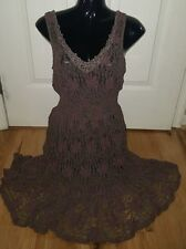 Free People Lace Dress Muted Brown and Purple Size SMALL Perfect condition!