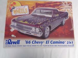 Revell California Wheels '66 Chevy El Camino 2'n1 1/25 Model Car Kit # 85-2045