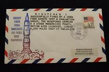 Space Cover 1988 Hand Cancel Minuteman 1 Launch By 6595Th Test & Eval Gru (1988)