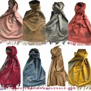MulberrY Tree Of Life Mulberry  Reversible Long Scarf Ladies Soft - 8 Color