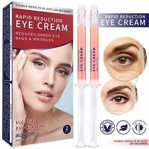 Eye Cream for Rapidly Reducing Bagginess Puffiness, Dark Circle and Wrinkle 2Pcs