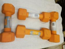 CAP Dumbbells 8lbs Set Of 2 orange Pair Hex Weights 8 Pounds Dumbells 16LB Total