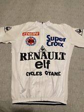 Maillot Cycliste Vélo Réplique Renault Gitane Elf Super croix Équipe Année 80 XL