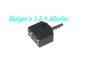 Audio Adapter 3,5mm Klinke 2x Klinkenkupplung  Klinkenstecker Stereo