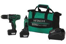 Hitachi 12V Peak Li-Ion Cordless Micro Driver Drill + Rotary Tool Combo! Volt