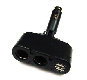 Kfz-Adapter ( 2 in 1 ) mit 2 x USB Buchsen für Zigarettenanzünder