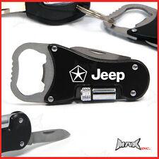 CHRYSLER JEEP Lasered Logo Keyring / Pocket Knife / LED Torch / Bottle Opener