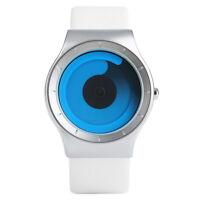 PAIDU Black/White Leather Band Men Student Quartz Wrist Watch Gift for New Term