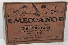 Meccano,  Instructions pour l'emploi des boîtes 1 2 & 3, N° 20A, Copyright 1916