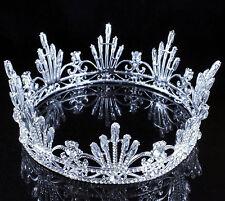 Firework Queen Clear Austrain Crystal Rhinestone Tiara Crown Pageant Bridal C808