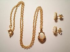 1 Genuine Opal Necklace and Earring Set