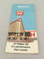 Phillips 66 1971 Road Map of Mexico